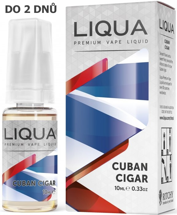 Liquid LIQUA Elements Cuban Tobacco 10ml-18mg (Kubánský doutník)