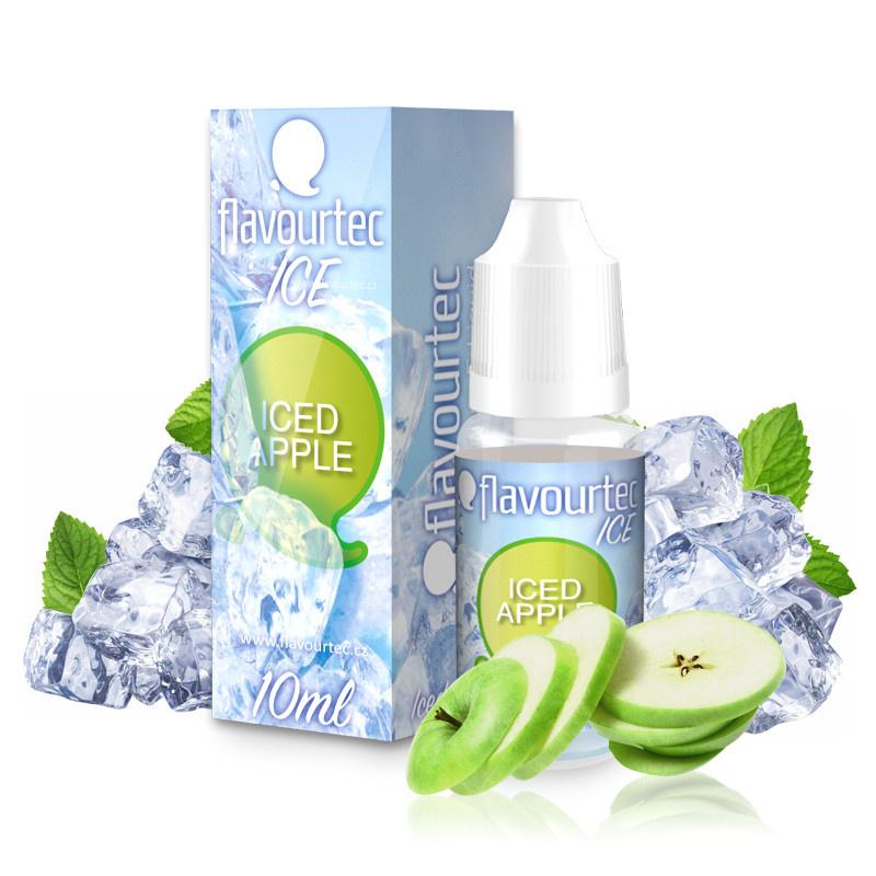 Liquid Flavourtec Ice Ledové jablko (Iced Apple) 10ml - 12mg (E-liquid Flavourtec Ice 10ml / 12mg: Ledové jablko (Iced Apple))