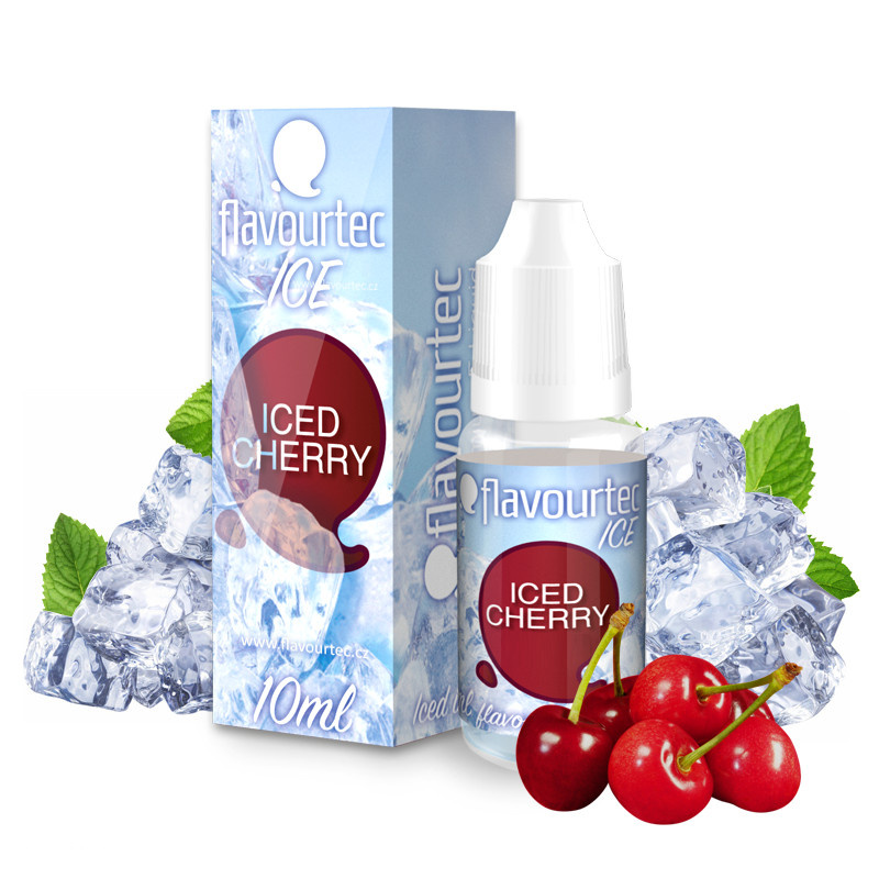 Liquid Flavourtec Ice Ledová třešeň (Iced Cherry) 10ml  - 6mg