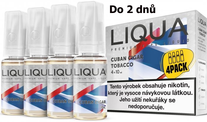 LIQUA 4Pack Cuban Cigar tobacco 4x10ml-6mg
