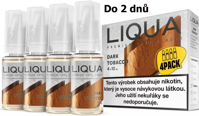 LIQUA 4Pack Dark tobacco 4x10ml-3mg