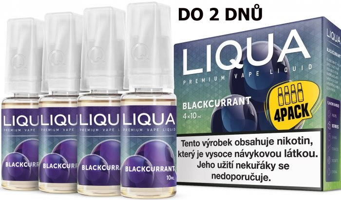 LIQUA 4Pack Blackcurrant 4x10ml-6mg (černý rybíz)