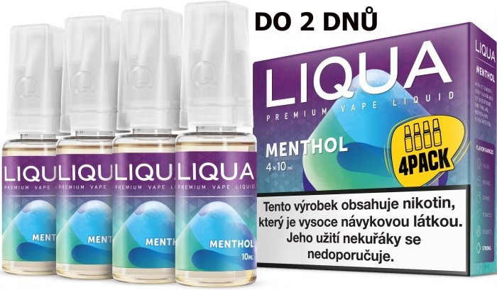 LIQUA 4Pack Menthol 4x10ml-6mg (Mentol)