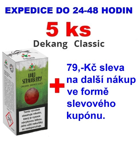 Liquid Dekang Wild Strawberry (Lesní Jahoda) 10ml - 0mg 5ks
