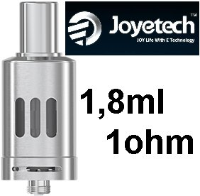 Joyetech eGo ONE Clearomizer 1ohm 1,8ml Silver (Clearomizer Joyetech eGo ONE 1,8ml (1,0ohm) (Stříbrný))