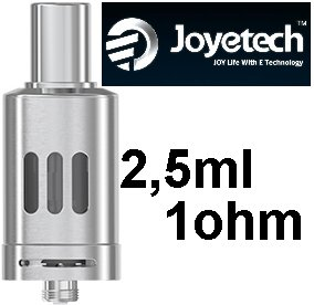 Joyetech eGo ONE Clearomizer 1ohm 2,5ml Silver (Clearomizer Joyetech eGo ONE 2,5ml (1,0ohm) (Stříbrný))
