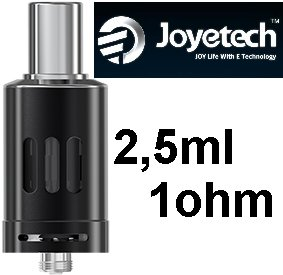 Joyetech eGo ONE Clearomizer 1ohm 2,5ml Black (Clearomizer Joyetech eGo ONE 2,5ml (1,0ohm) (Černý))