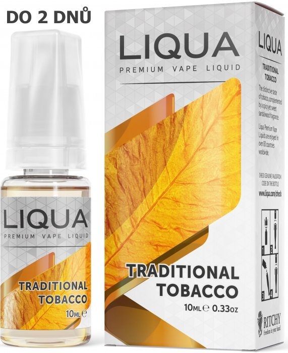 Liquid LIQUA Elements Traditional Tobacco 10ml-0mg (Tradiční tabák)