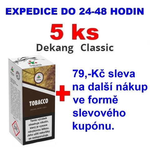 Liquid Dekang Tobacco 10ml - 11mg (tabák) 5ks