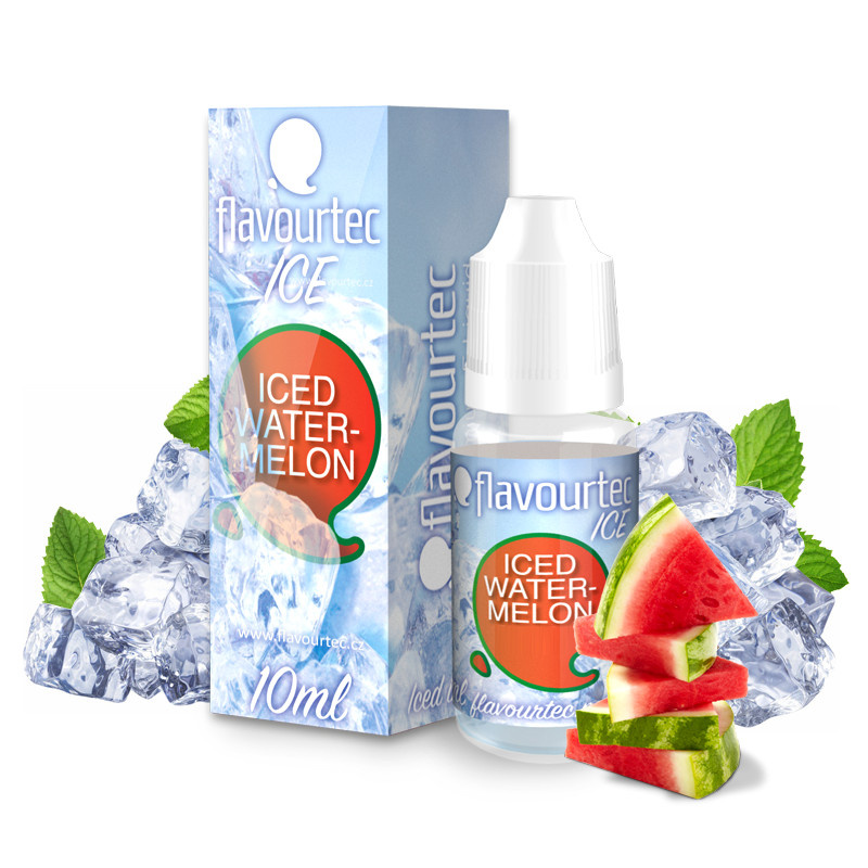 Liquid Flavourtec Ice Ledový meloun (Iced Watermelon) 10ml - 18mg (E-liquid Flavourtec Ice 10ml / 18mg: Ledový meloun (Iced Watermelon))