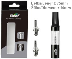 iSmoka-Eleaf Mini BCC clearomizer Sada 1,6ml Clear-Black