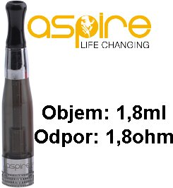 aSpire CE5 BVC Clearomizer 1,8ohm 1,8ml Black