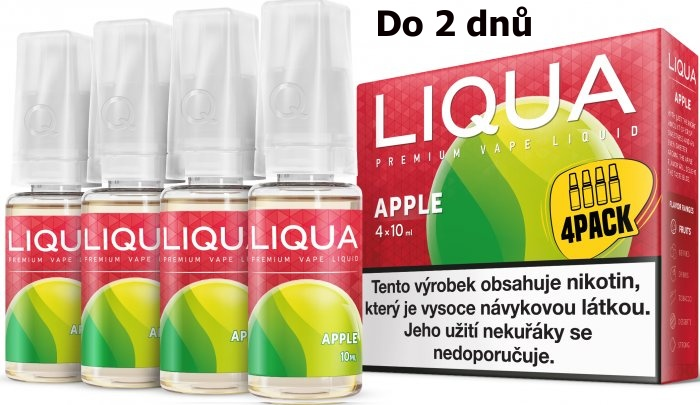 LIQUA 4Pack Apple 4x10ml-3mg (jablko)