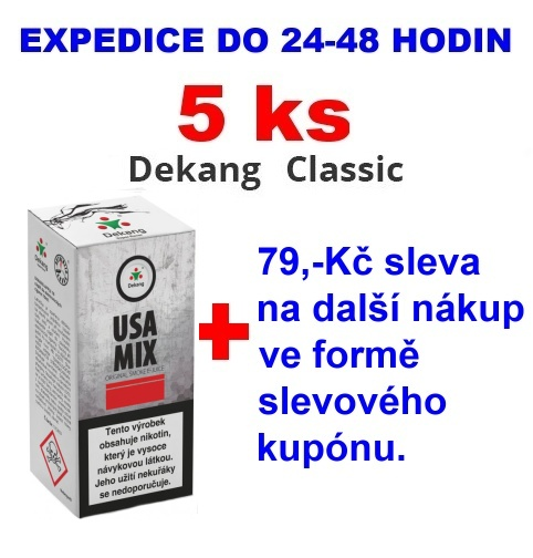 Liquid Dekang USA MIX 10ml - 0mg 5ks