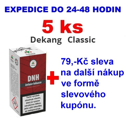 Liquid Dekang DNH-deluxe tobacco 10ml - 6mg 5ks