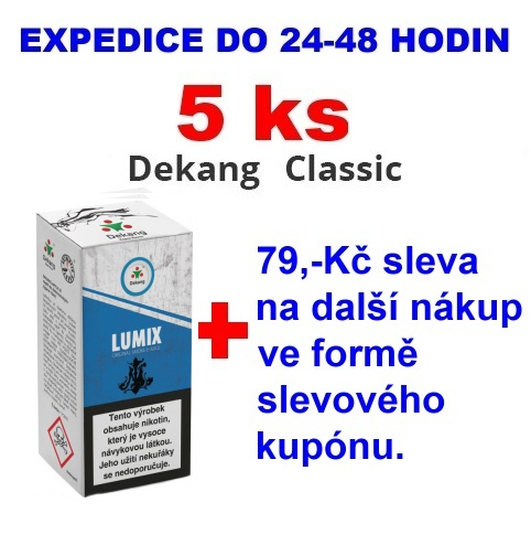 Liquid Dekang LUMIX 10ml - 18mg 5ks