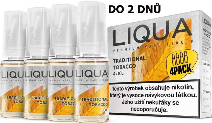 LIQUA 4Pack Traditional tobacco 4x10ml-3mg