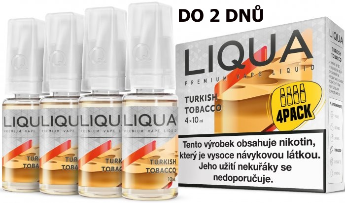 LIQUA 4Pack Turkish tobacco 4x10ml-6mg