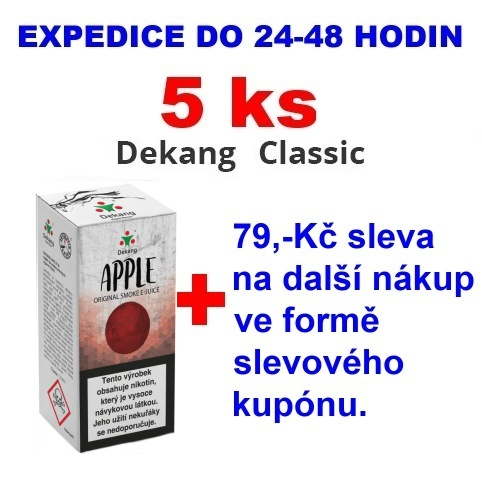 Liquid Dekang Apple (Jablko) 10ml - 0mg 5ks