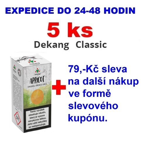 Liquid Dekang Apricot (Meruňka) 10ml - 0mg 5ks