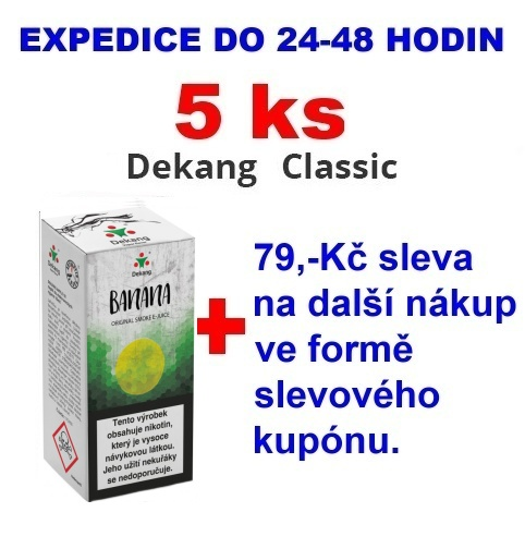 Liquid Dekang Banana (Banán) 10ml - 0mg 5ks