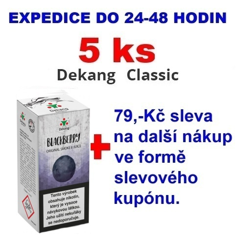 Liquid Dekang Blackberry (Ostružina) 10ml - 6mg 5ks