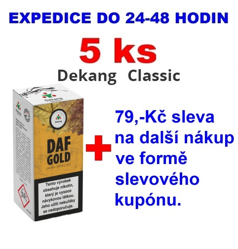 Liquid Dekang DAF Gold 10ml - 11mg 5ks