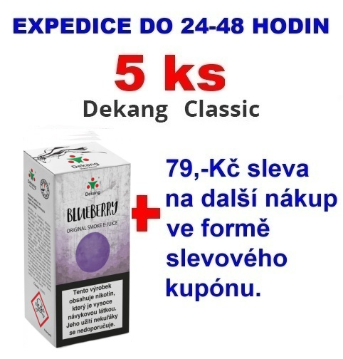 Liquid Dekang Blueberry (Borůvka) 10ml - 0mg 5ks