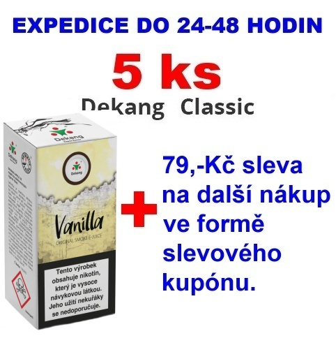 Liquid Dekang Vanilla (Vanilka) 10ml - 0mg 5ks