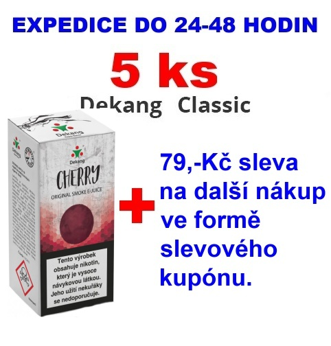 Liquid Dekang Cherry (Třešeň) 10ml -  16mg 5ks