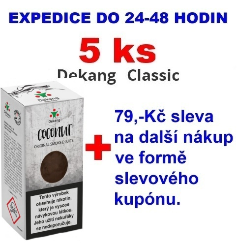 Liquid Dekang Coconut (Kokos) 10ml - 6mg 5ks