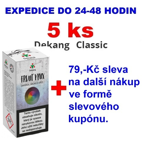 Liquid Dekang Fruit Mix (Ovocný mix) 10ml - 0mg 5ks
