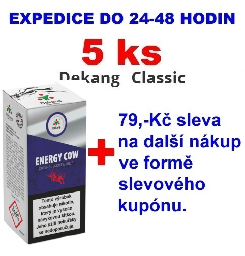 Liquid Dekang Energy Cow (Energetický nápoj) 10ml - 0mg 5ks