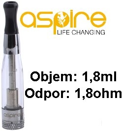 aSpire CE5 BVC Clearomizer 1,8ohm 1,8ml Clear