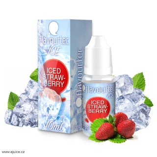 Liquid Flavourtec Ice Ledová jahoda (Iced Strawberry) 10ml  - 18mg