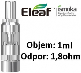 iSmoka-Eleaf GS16S clearomizer 1,8ohm 1ml Silver