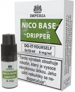 Nikotinová báze IMPERIA Dripper 5x10ml PG30-VG70 6mg
