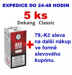 Liquid Dekang Red USA MIX 10ml - 18mg 5ks
