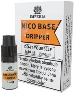 Nikotinová báze IMPERIA Dripper 5x10ml PG30-VG70 3mg