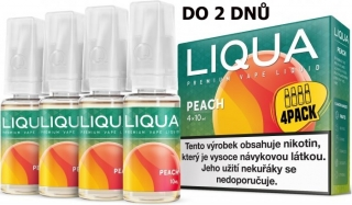 LIQUA 4Pack Peach 4x10ml-3mg (Broskev)