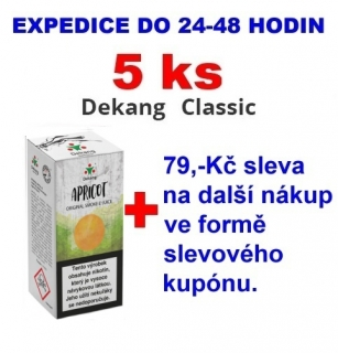 Liquid Dekang Apricot (Meruňka) 10ml - 18mg 5ks