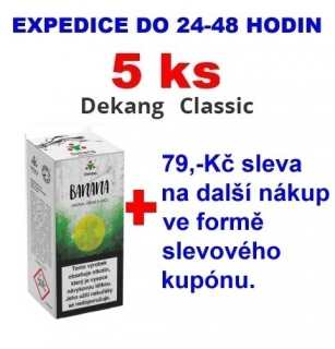 Liquid Dekang Banana (Banán) 10ml - 18mg 5ks