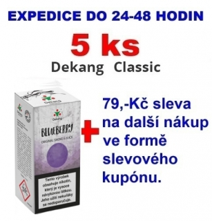 Liquid Dekang Blueberry (Borůvka) 10ml - 18mg 5ks