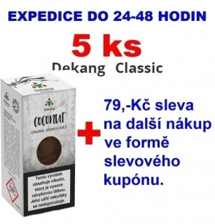 Liquid Dekang Coconut (Kokos) 10ml - 11mg 5ks