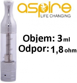 aSpire ET-Victory BDC Clearomizer 3ml 1,8ohm Clear